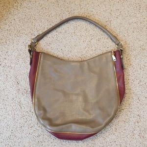 J. Crew purse purple and gray